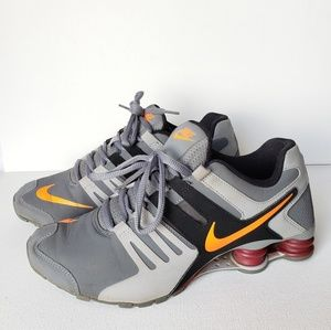 Nike Shox Current WolfGrey/Black/Citrus Size #8